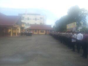 Apel Siaga Pengamanan May Day di Halaman Polres Tarakan