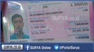 Parpor MR, terduga teroris yang dikeluarkan oleh Imigrasi Tarakan (surya.co.id)