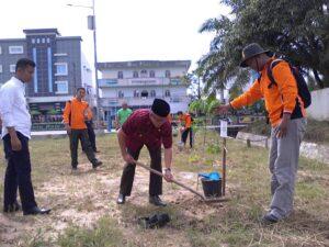 Walikota Tarakan Tengah Menanam Bibit Pohon (ctr)
