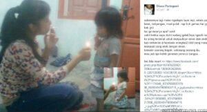 Foto ibu muda yang mengajarkan anaknya merokok (diana puringsari facebook)