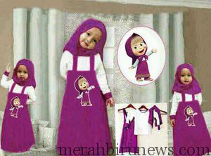 Contoh Trend Baju MUslim_Anak Marsha and The Bear