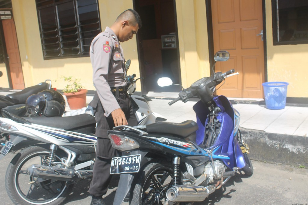 Salah satu motor yang dicuri oleh kawasan pelaku curanmor (hfa)