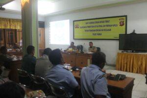 Rapat koordinasi opsnal tanggap bencana yang dipimpin oleh Kapolres Tarakan AKBP Sarif Rahman (hfa)