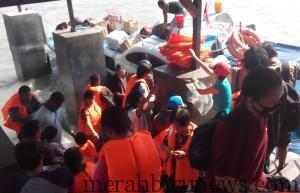 Arus Balik Pasca Idul Fitri, Mulai Terlihat di Pelabuhan Tengkayu I/SDF (nur)