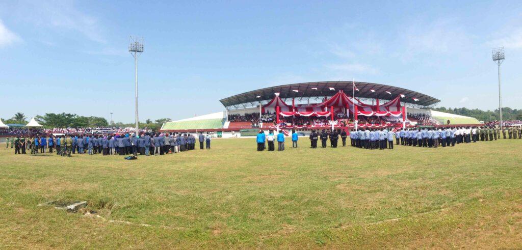 Upacara Detik-Detik Proklamasi di Stadion Datu Adil Tarakan (hfa)