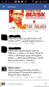Screen Shot tuduhan oleh IS kepada Rusli Jabba (PDKT)