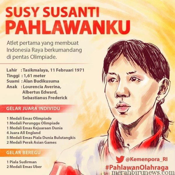 #PahlawanOlahraga Susy Susanti Bulutangkis