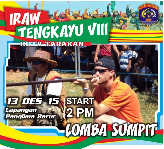 Festival IRAW Tengkayu 2015 Kota Tarakan - Lomba Sumpit