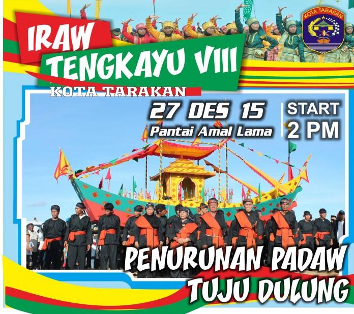 Festival IRAW Tengkayu 2015 Kota Tarakan - Penurunan Padaw Tuju Dulung