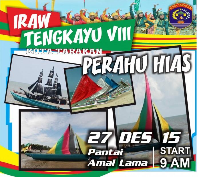 Festival IRAW Tengkayu 2015 Kota Tarakan - Perahu Hias
