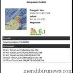 Gempa Bumi 21 Desember 2015 Tarakan Kalimantan Utara