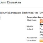 Info Gempa Tarakan Kalimantan Utara 6,5 SR 21 Desember 2015