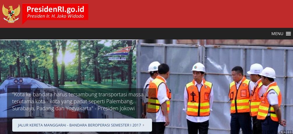 Presiden.GO.ID Website Pemerintah Jokowi