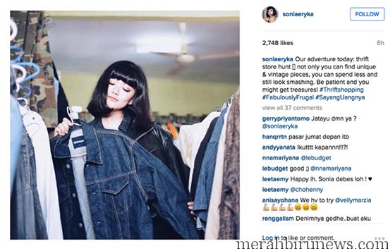 #SayangUangnya, Sonia Eryka Lebih Suka Belanja Baju Bekas