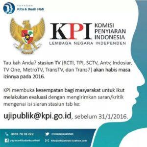 Uju Publik Komisi Penyiaran Indonesia