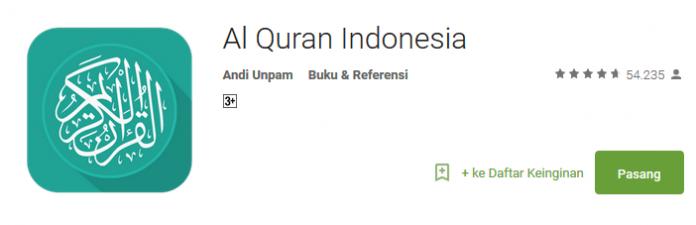 Al Quran Indonesia - Aplikasi Spesial Bulan Ramadhan