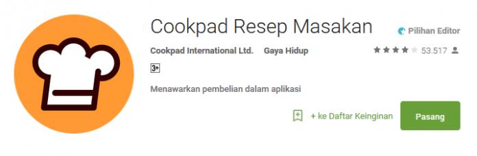 Cookpad Resep Masakan - Aplikasi Android Spesial Ramadhan
