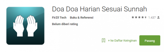 Doa Harian Sesuai Sunnah Aplikasi Android Spesial Ramadhan