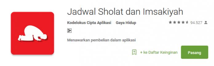 Jadwal Sholat - Apliaksi Spesial Ramadhan