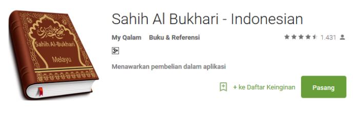 Sahih Al Bukhari Aplikasi Android Spesial Ramadhan